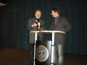 Prof. Arbogast Schmitt und Dr. habil. S. Büttner nach dem Vortrag von Herrn Büttner über die Elektra des Sophokles